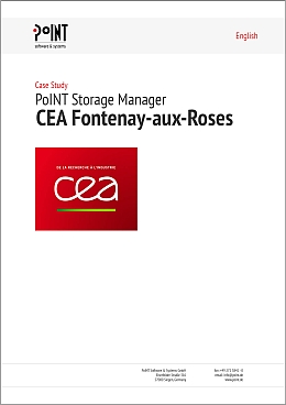 The red logo of CEA and the word Case Study are also placed on a white background -with the PSM CEA has got a solution for Data and Storage Management.