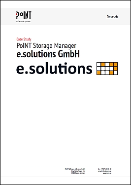 The case study of e.solutions GmbH represents  Data and Storage Management.