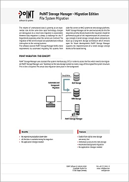 Data sheet of PoINT Storage Manager - Migration Edition